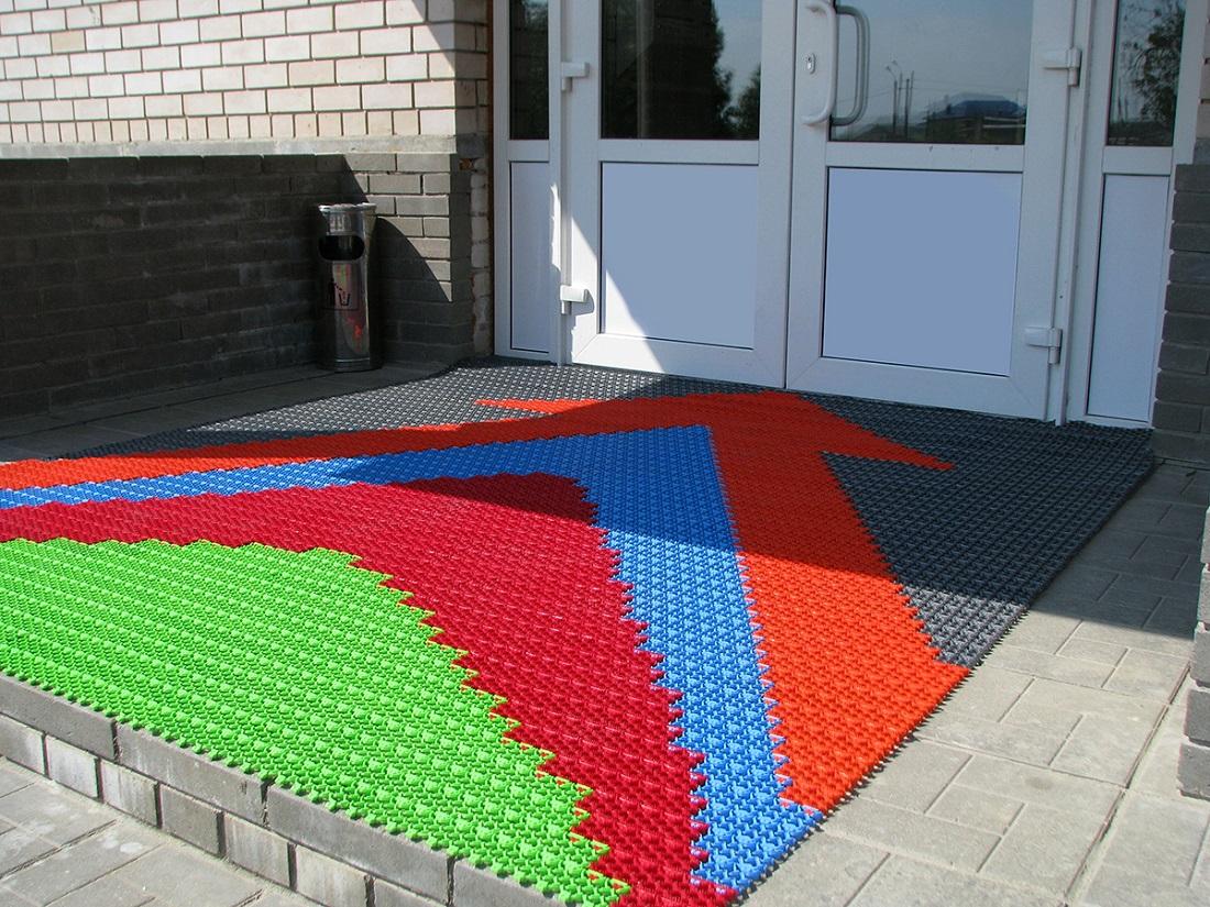 Грязезащитные резиновые ковры